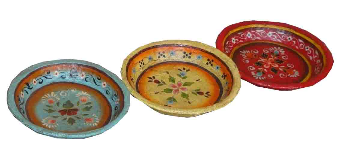 PLATES u2013 DECORATIVE PAPER MAICHE  sc 1 st  Haveli Home : paper plates decorative - pezcame.com