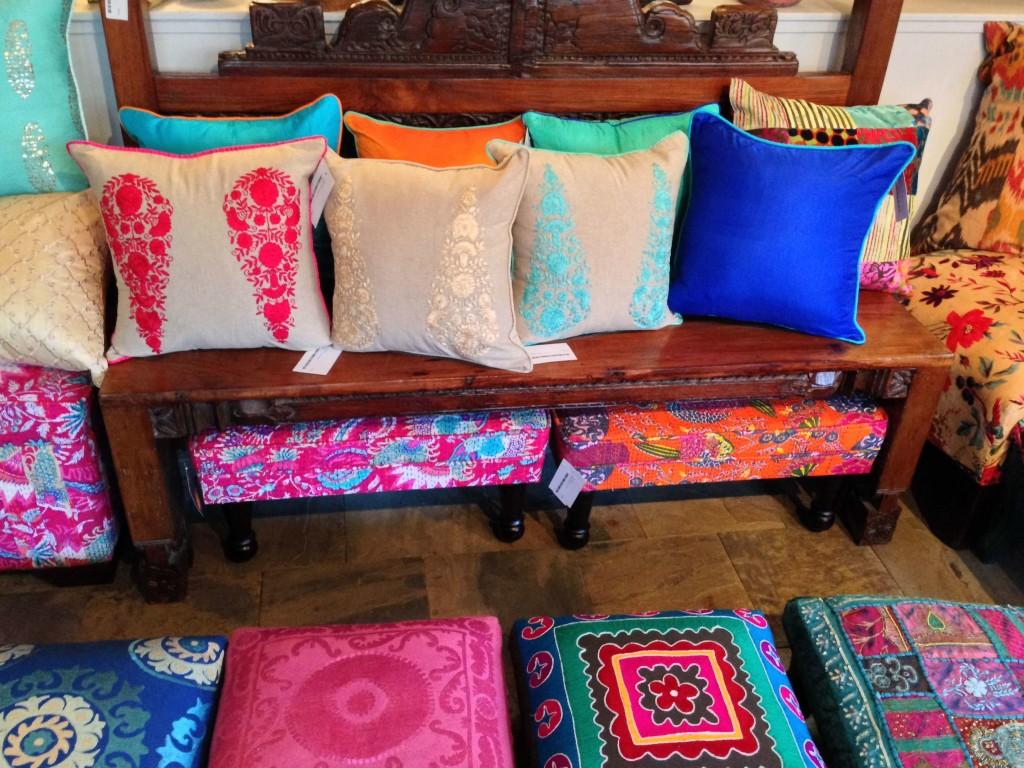 pillows bench