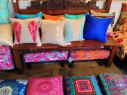 pillows bench