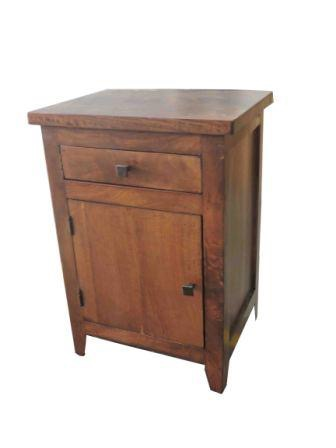 Bed Side Table Mango Wood One Drawer One Door Haveli Home