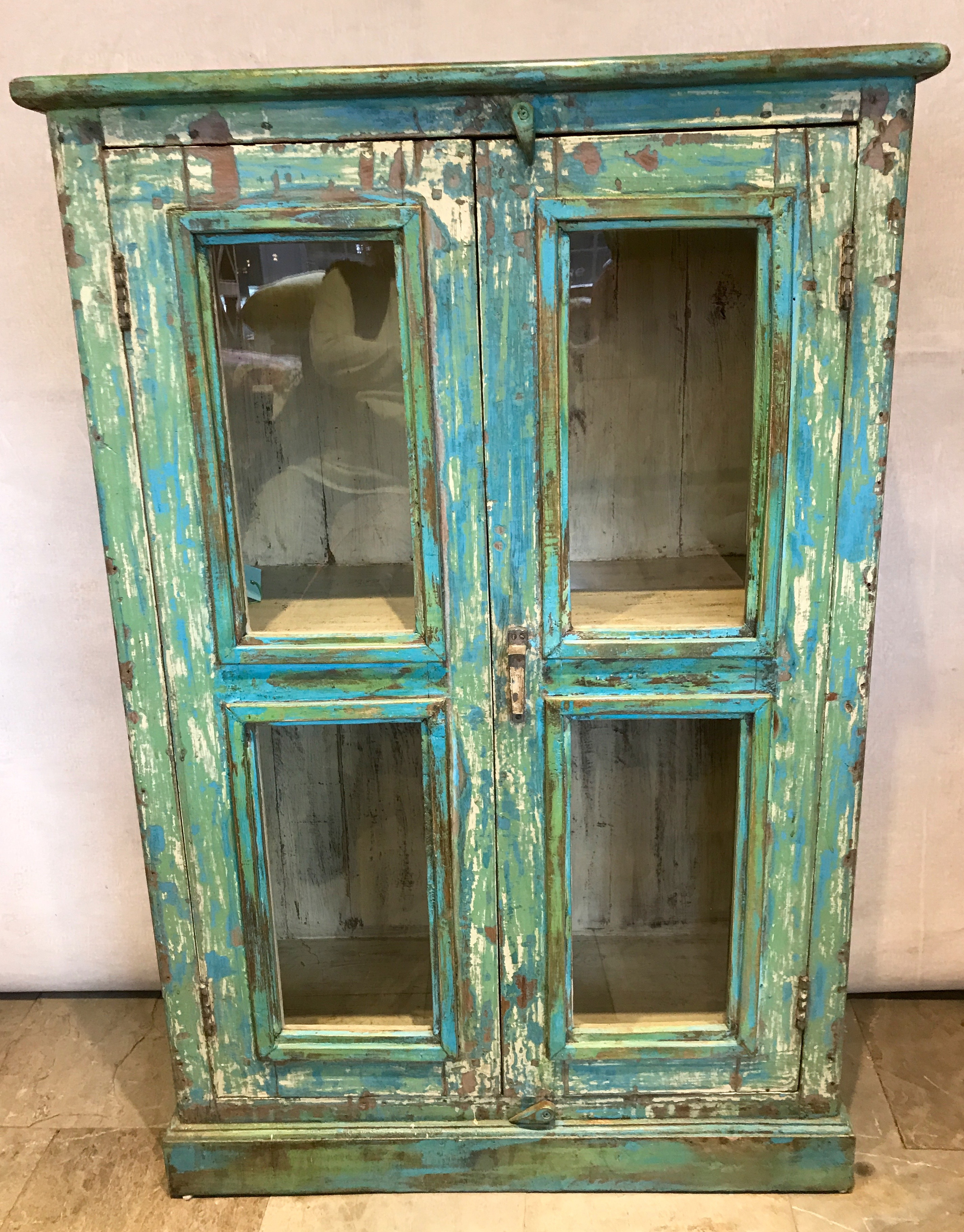 cabinet four glass panels